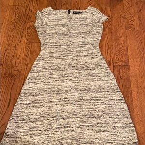 Ivanka Trump Gray Dress Short Sleeve Dress